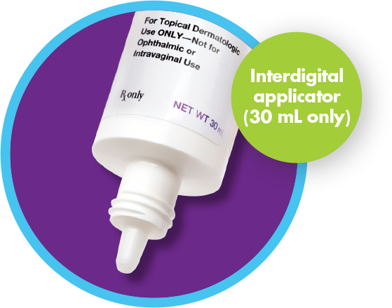 Interdigital applicator (30 mL only)